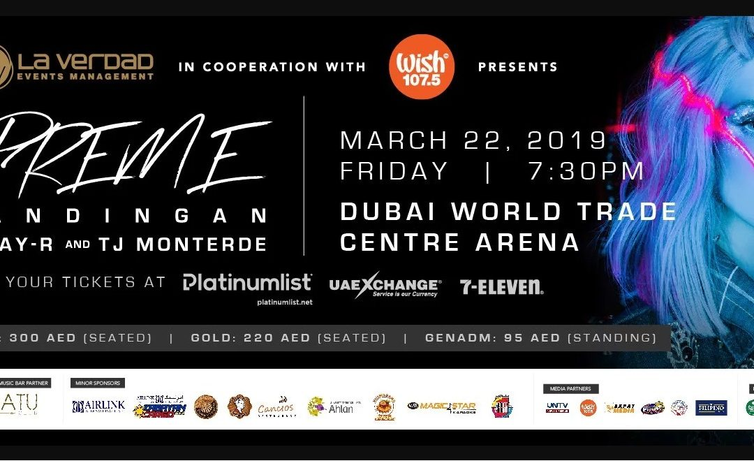 Catch KZ Tandingan in Dubai this March!