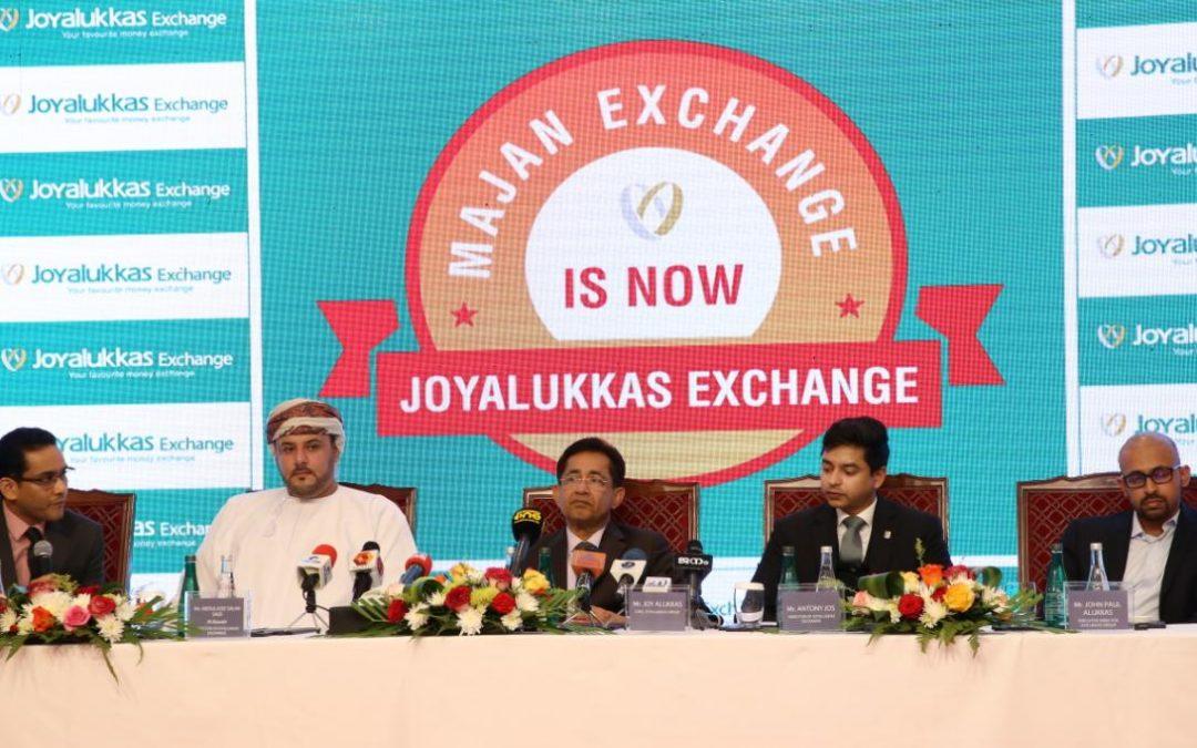 Majan Exchange rebrands to Joyalukkas Exchange