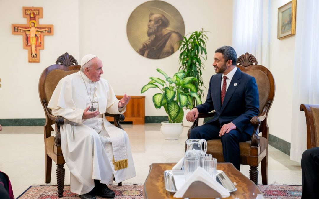Mohamed bin Zayed sends message to Pope Francis following UAE visit