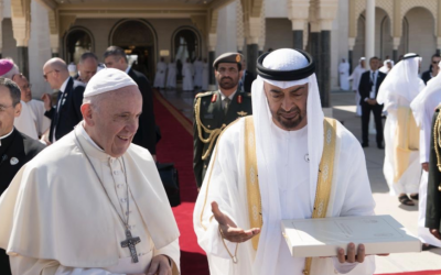 Pope Francis receives title-deed of first Catholic Church in UAE