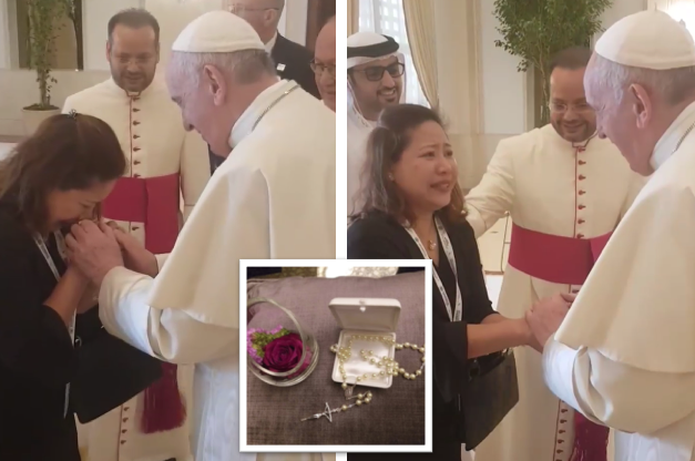 UAE-based OFW reveals what she whispered to Pope Francis