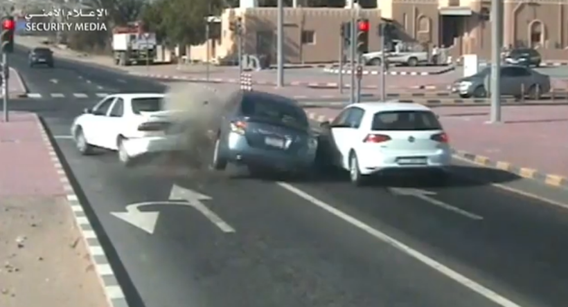 WATCH: Car slams into another vehicle at intersection
