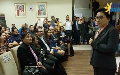 PANUORIN: 'Let's break the chain of human trafficking' Ambassador Quintana tells Filipino community