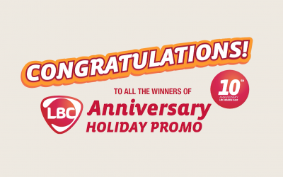 LBC awards winners across Middle East with over P1M worth of prizes from the Anniversary Holiday Promo