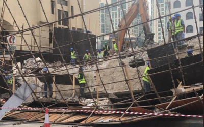 Scaffolding collapses in Abu Dhabi