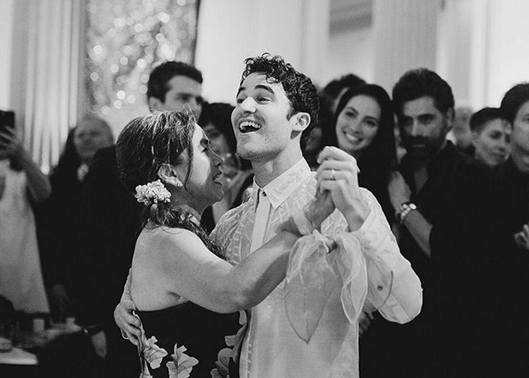 Hollywood actor Darren Criss wears barong by Francis Libiran on his wedding day