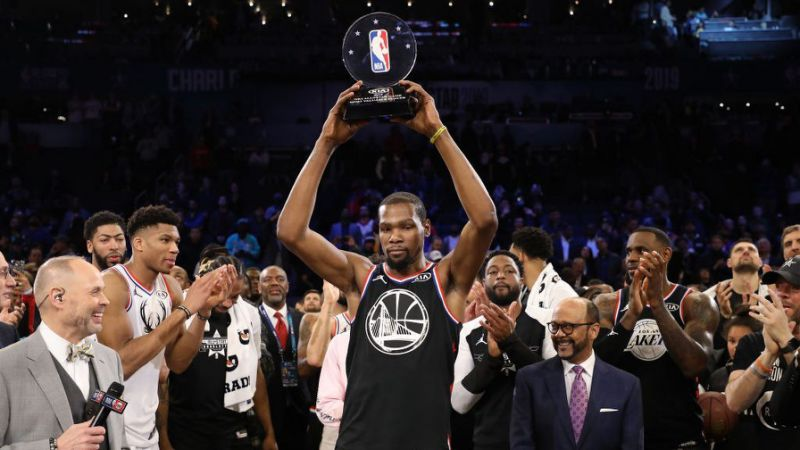 Durant wins MVP title in NBA All-star