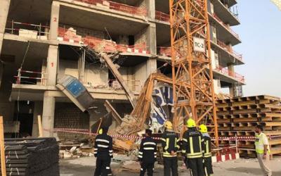 One dead, three injured in Abu Dhabi crane collapse