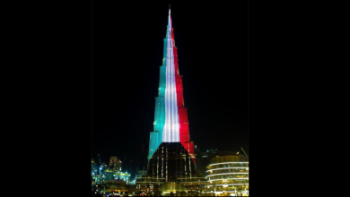 Photo of LOOK: Burj Khalifa lights up for Kuwait's 58th National Day
