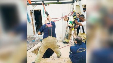 Photo of Man buried alive in sand collapse at Ras Al Khaimah construction site