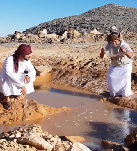 WATCH: Pond in UAE freezes due to cold weather