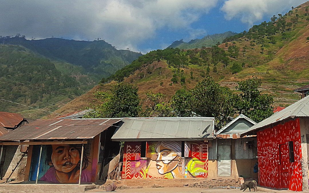 Artists transform mountain village into a work of art