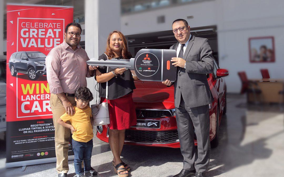 Filipina wins brand new Lancer EX in Al Habtoor Motors 2019 DSF