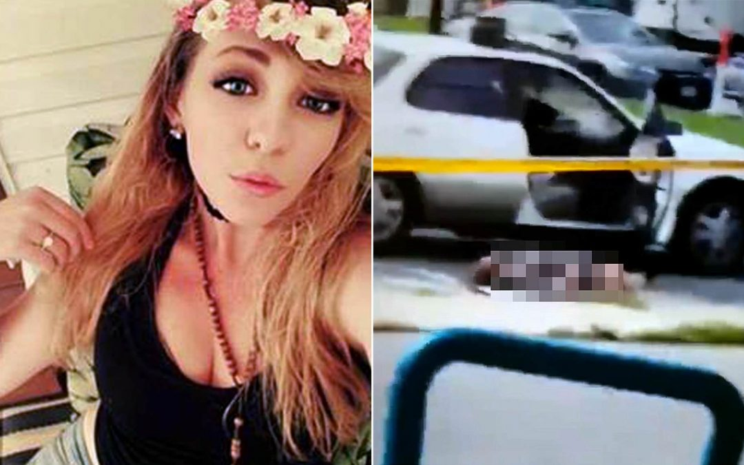 Woman shot self through mouth with hands cuffed behind her back, police says