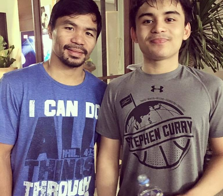 Pacquiao's son to follow his dad's footsteps