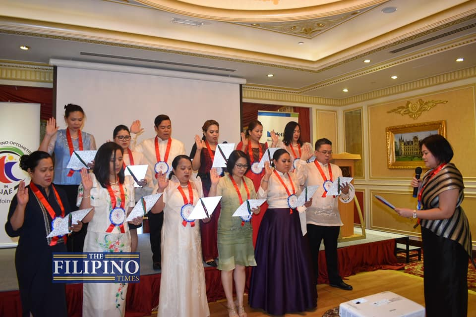 United Filipino Optometrists in UAE hold oath taking of officers for 2019