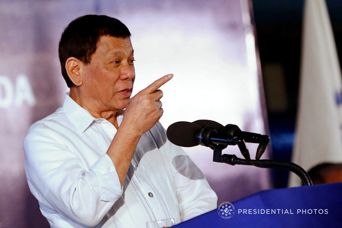 Duterte dares United States: Fire the first shot, declare war vs. China