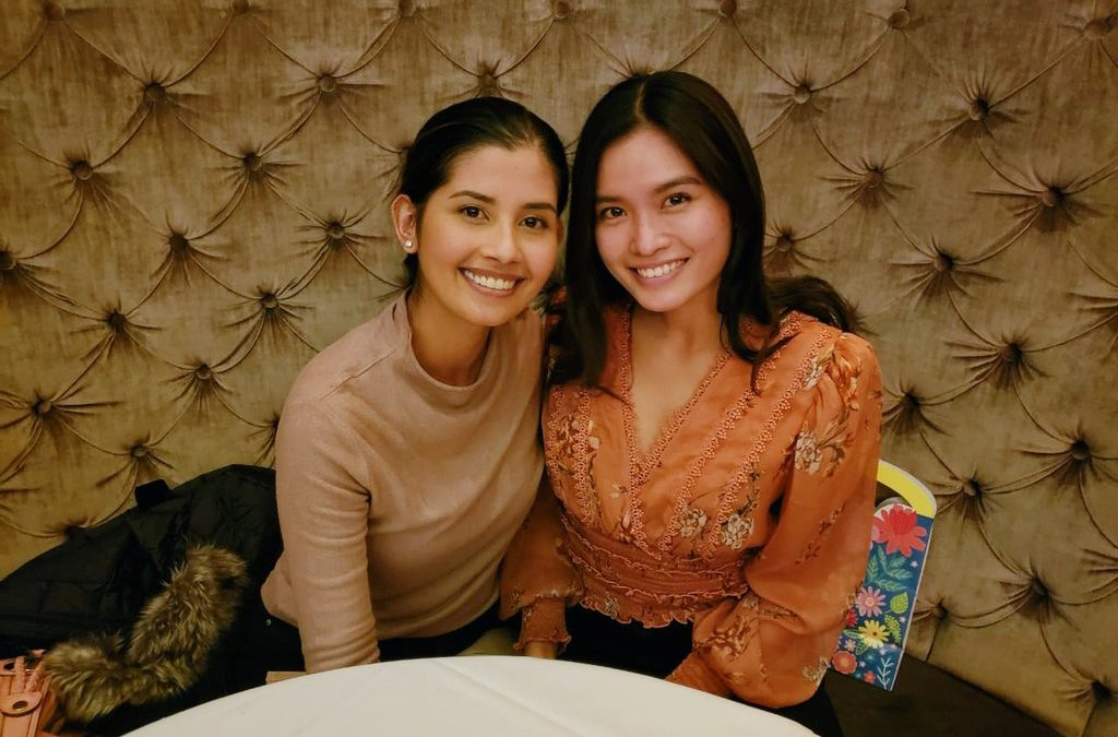 Miss Universe PH queens Shamcey Supsup, Janine Tugonon reunite in NYC