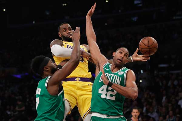 Irving puts in 30 as Celtics defeat Laker, 120-107