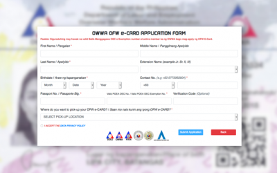 GUIDE: How to apply for OFW e-Card