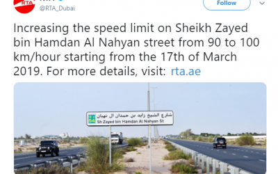 Major Dubai road changes speed limit