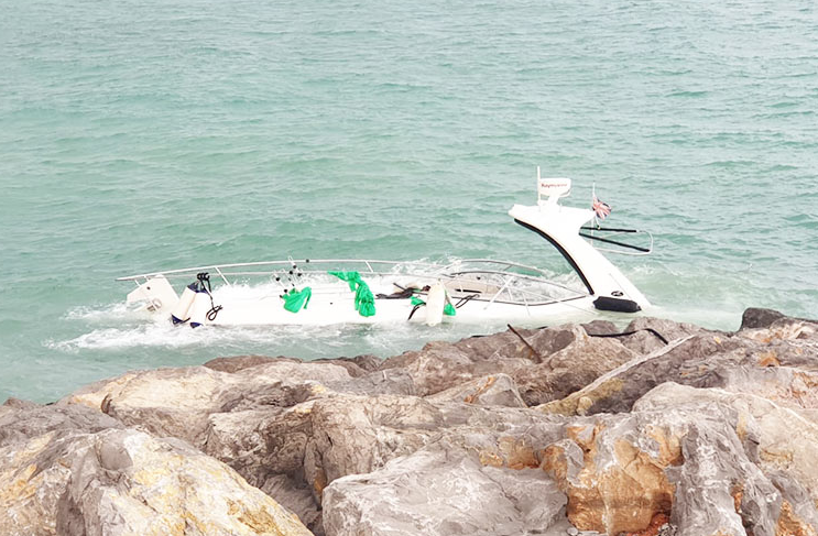 Seven tourists rescued off RAK coast after boat capsized in rough seas