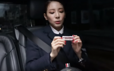 Sandara Park brings Choc-Nut to Paris Fashion Week