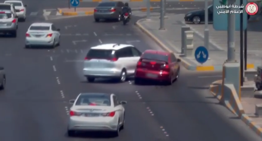 WATCH: Driver meets with an accident, loses control after swerving