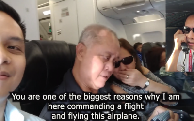 WATCH: Filipino pilot surprises parents onboard flight with heartwarming message