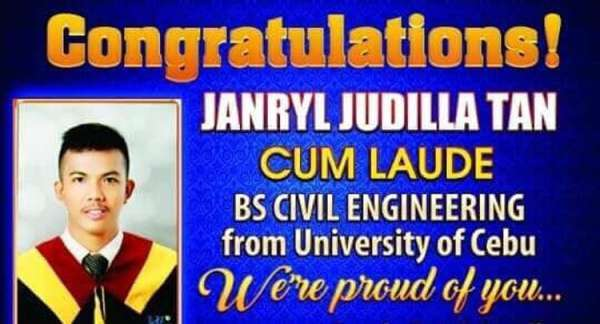Brgy. Tanod in Cebu graduates cum laude in civil engineering