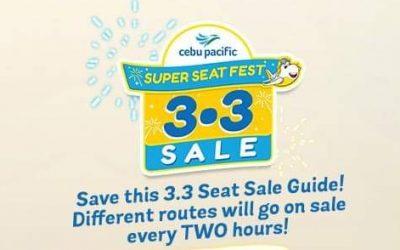 LOOK: Cebu Pacific unveils 3-3 sale