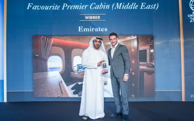 Emirates wins 'Favourite Middle East Airline Premium Cabin' at the Conde Nast Middle East Reader's Choice Awards