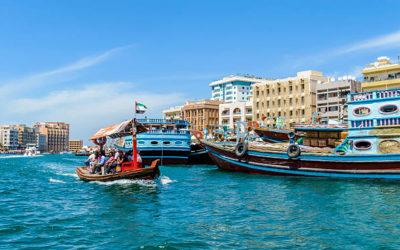 Dhow catches fire on Dubai Creek