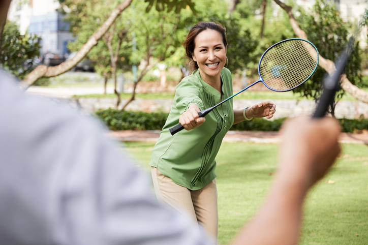 Swing a badminton racket, live 6 years more