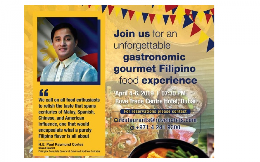 PH Consulate partners with UAE's biggest Filipino media agency to bring Philippines' finest cuisines to UAE residents