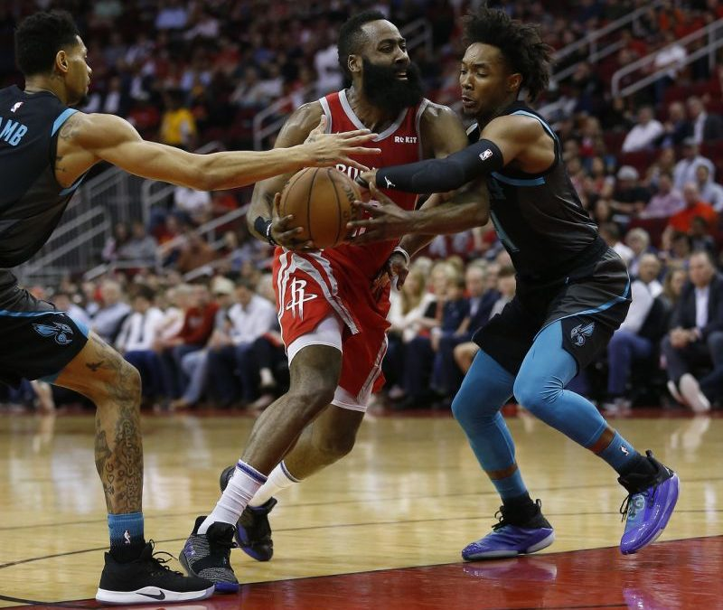 Harden leads Rockets to 108-102 victory over Suns