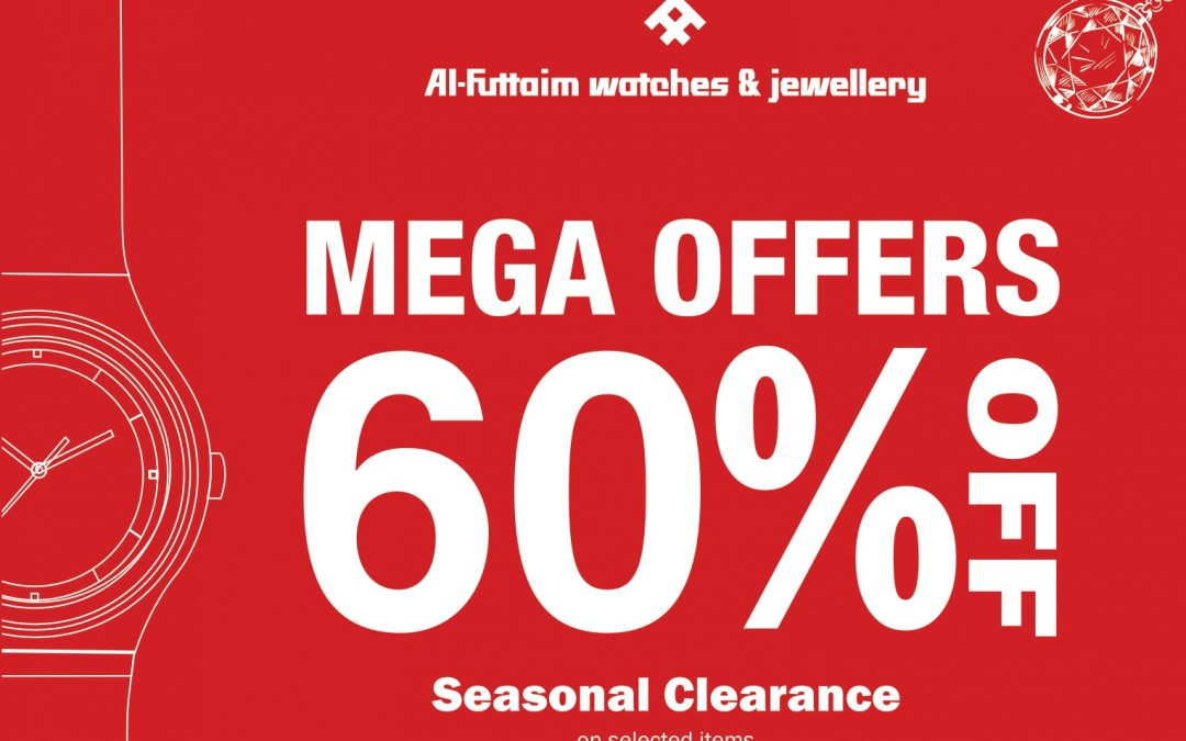 Enjoy up to 60% off with Al Futtaim Watches & Jewellery at Hamdan Centre Abu Dhabi