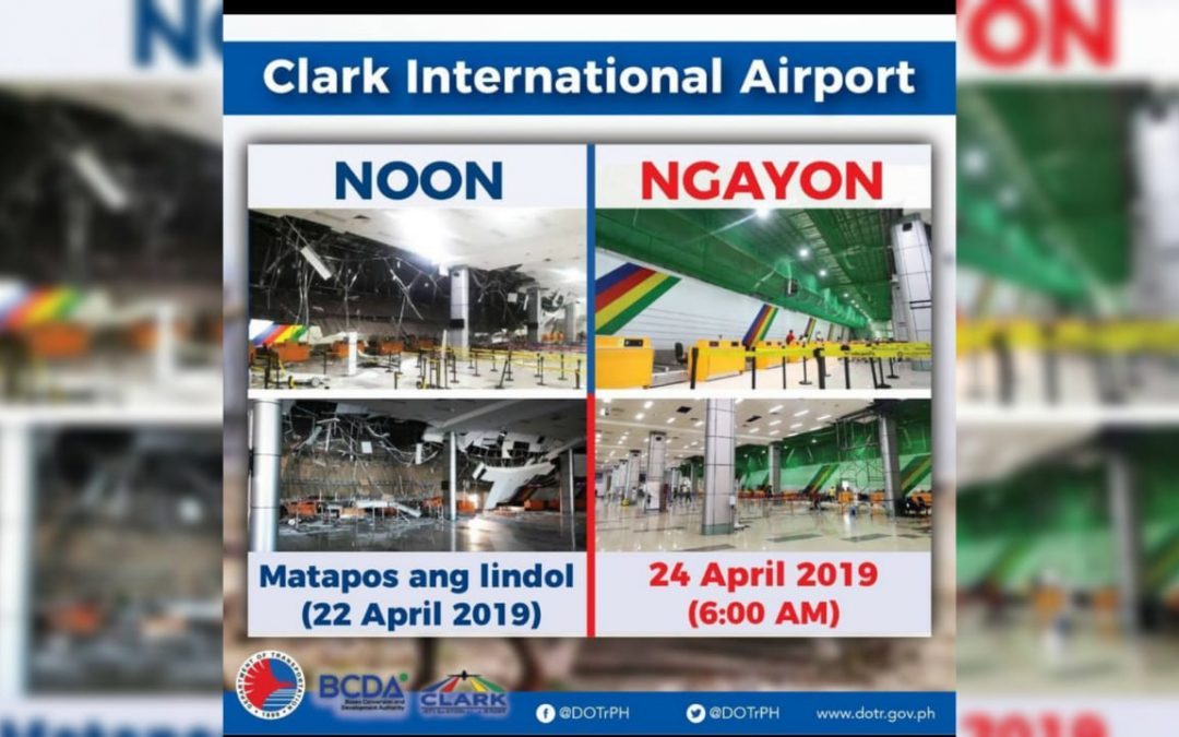 LOOK: Clark International Airport 'before and after' earthquake photos show quick recovery within 48 hours