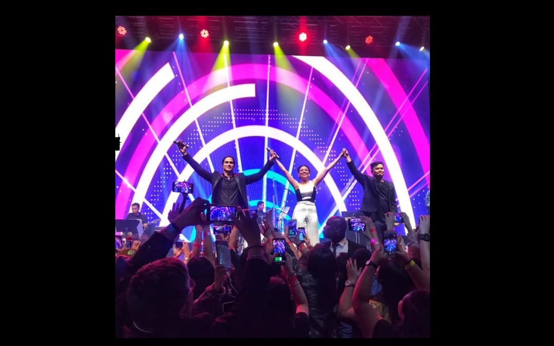 Ogie Alcasid, Piolo Pascual and Morissette rev up Dubai World Trade Centre at OPM Overload