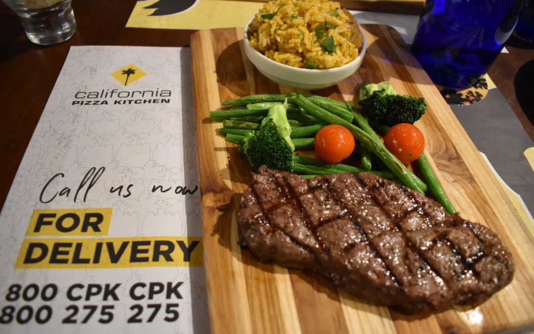 Savor authentic Angus Steak for Dh 39 at California Pizza Kitchen!