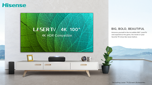 Hisense unveils 100-inch 4k UHD Laser TV in UAE - The