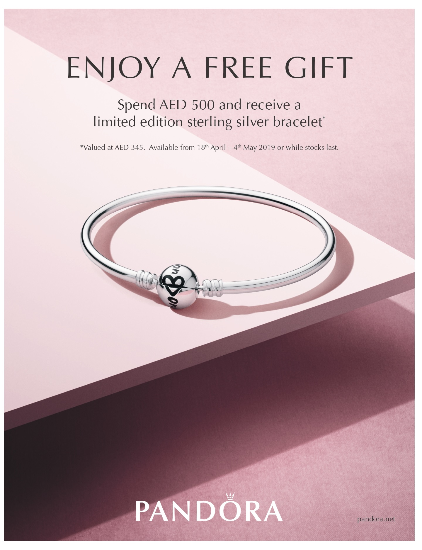 Reward yourself with a free gift from PANDORA this Mother's