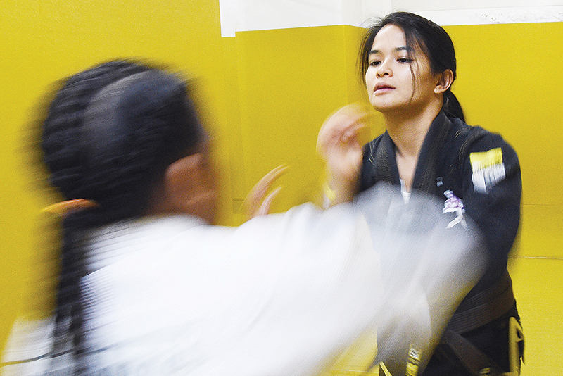 Pinay Jiu-jitsu champ teaches abuse victims self-defense