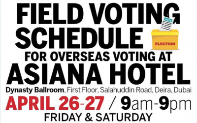 Overseas absentee voting at Asiana Hotel this weekend