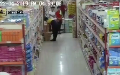 WATCH. Chuzon supermarket during the magnitude 6.3 earthquake