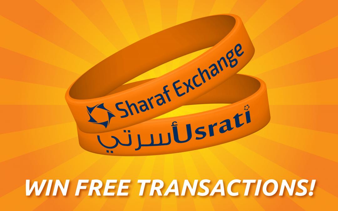 Wear your Usrati bracelet for free gifts at Sharaf Exchange!