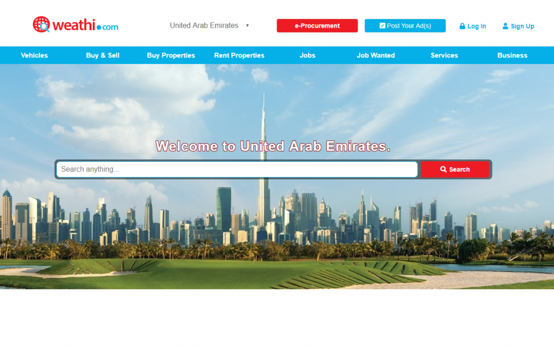 Welcome to weathi.com: UAE's newest portal for jobs, real estate, buy & sell, e-commerce and more