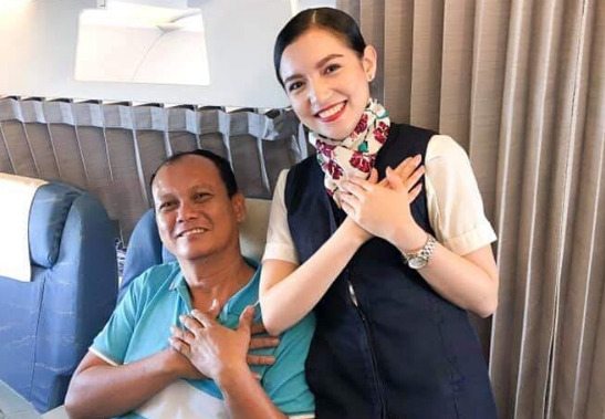 VIRAL: PAL flight attendant shares delight of serving own father on board