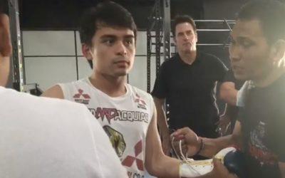 Manny Pacquiao's eldest son wins first amateur fight via KO