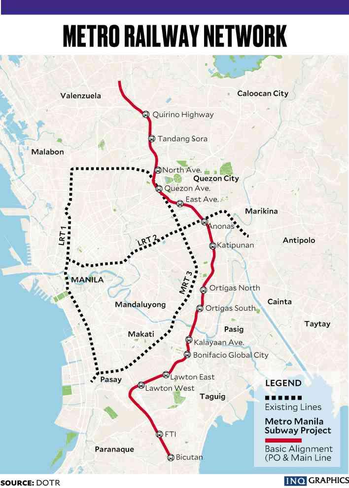 Mega Manila Subway Map.Mega Manila Subway Project To Increase Property Value Three Fold